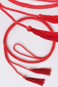 Cingulum frędzle czerwony
