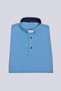 Koszulka Polo: niebieska z guzikami [KUS]
