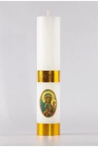 Świeca ołtarzowa - Matka Boska Częstochowska, mała [O-2]