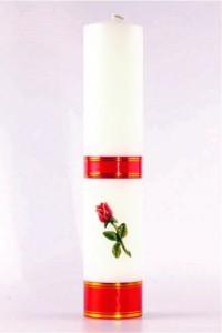 Świeca ołtarzowa - Róża czerwona, duża [O-11]