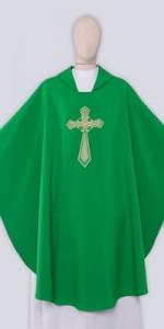 Ornaty Zielone z haftem - Ornaty liturgiczne - E-liturgia.pl